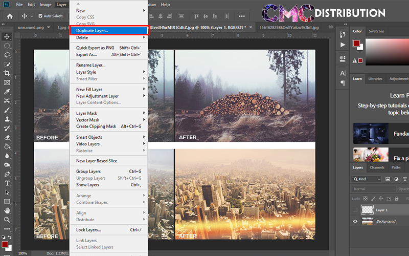 Cach copy Layer tren cung mot file trong Photoshop 1