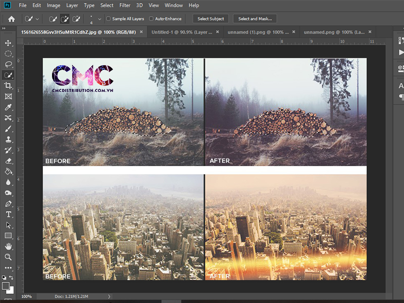 Cach copy Layer tren cung mot file trong Photoshop 3