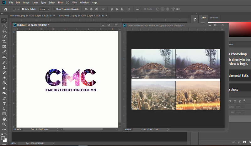 cach copy Layer trong photoshop tu file nay sang file khac