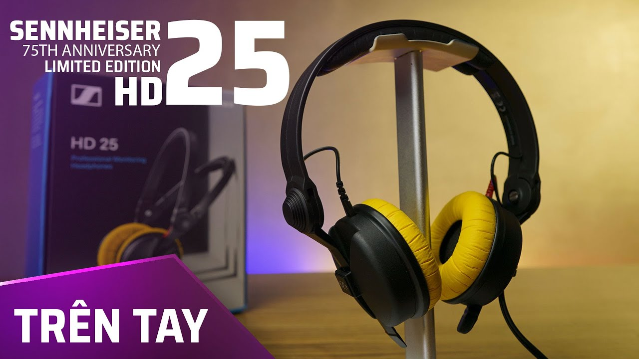 Trên tay Sennheiser 75th Anniversary Limited Edition HD25!!!