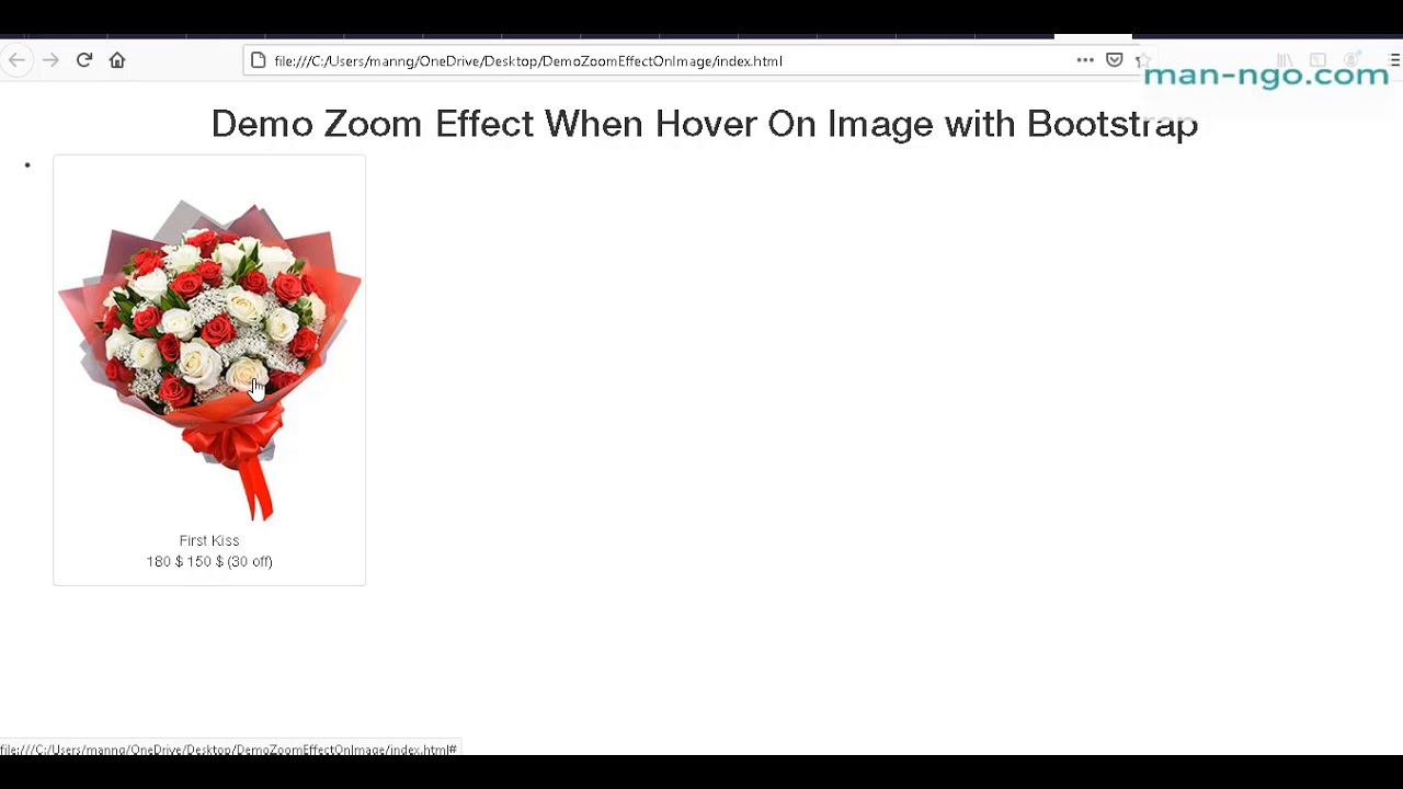 Hiệu ứng Zoom Trên Image with Bootstrap and CSS