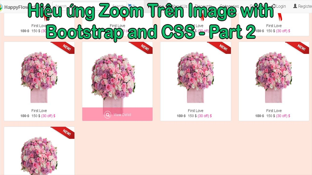 Hiệu ứng Zoom Trên Image with Bootstrap and CSS - Part 2