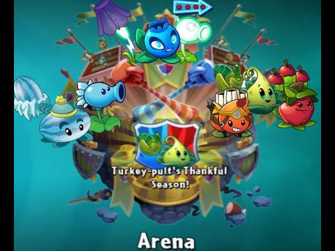 PlantsVsZombies2| Use team Frozen, Electric & Cannon Plants in Arena - Turkey-pult's Thankful Season